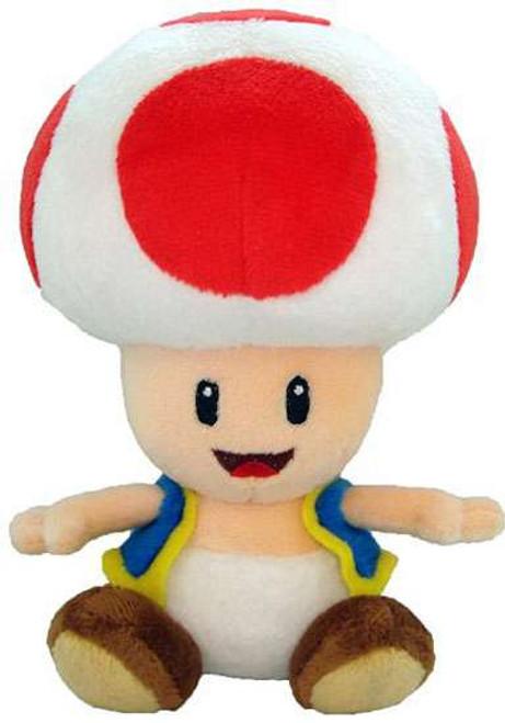 Super Mario Toad 8-Inch Plush