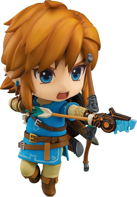 The Legend of Zelda Breath of the Wild Nendoroid Link Action Figure #733 [Breath of the Wild]