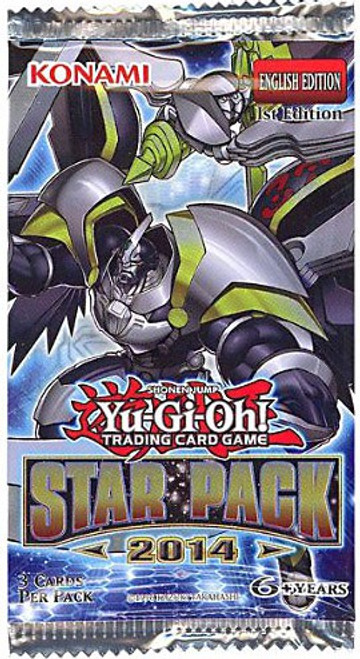 YuGiOh Trading Card Game Star Pack 2014 (1st Edition) Booster Pack