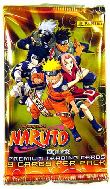 Naruto Panini Ninja Ranks Trading Card Pack