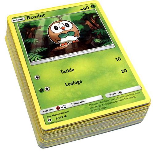 Pokemon Trading Card Game Sun & Moon LOT of 50 Single Cards