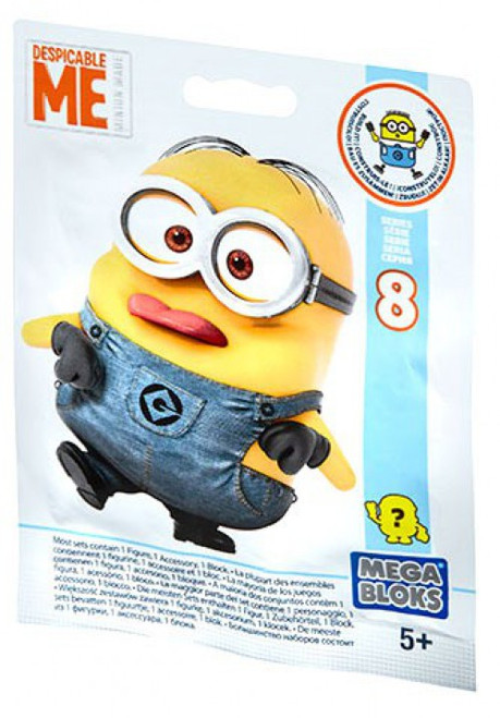 Mega Bloks Despicable Me Minion Made Series 8 Mystery Pack [1 RANDOM Figure]