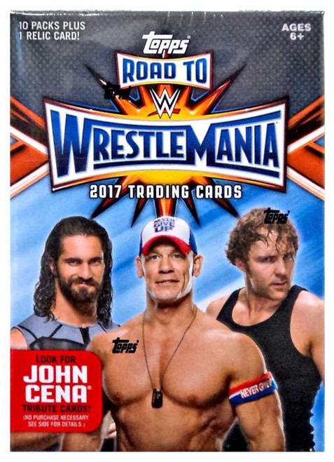 WWE Wrestling Topps 2017 Road to WrestleMania Trading Card BLASTER Box [10 Packs & 1 Relic Card]