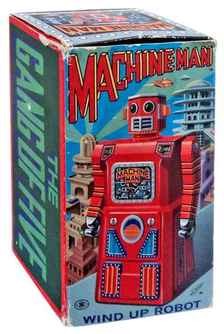 The Gang of Five Machine Man Wind Up Robot [Damaged Package]