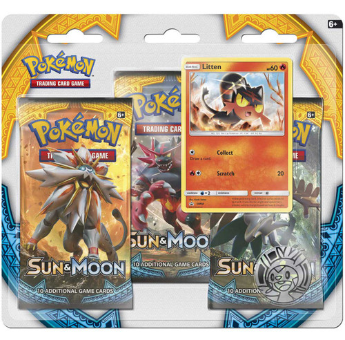 Pokemon Trading Card Game Sun & Moon Litten Special Edition [3 Booster Packs, Promo Card & Coin]