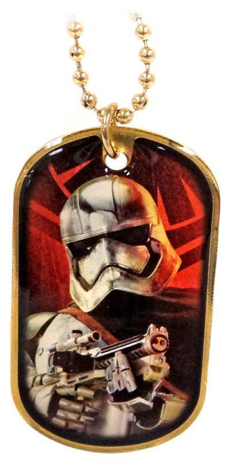 Star Wars The Force Awakens Captain Phasma Dog Tag #15 [Gold Loose]