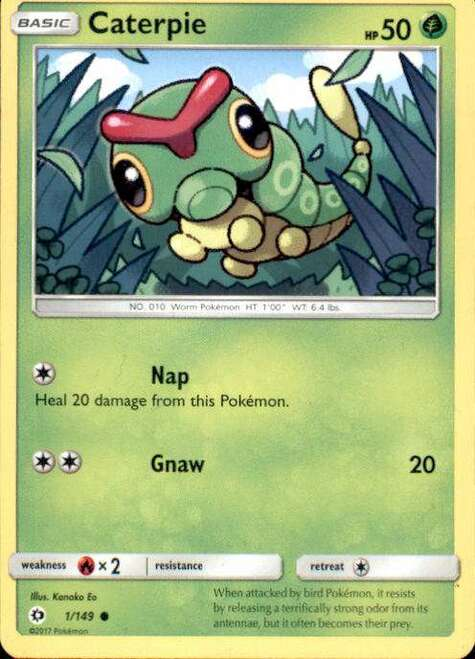 Pokemon Sun & Moon Base Set Common Caterpie #1