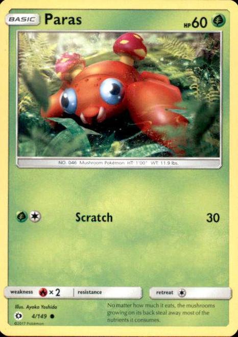Pokemon Sun & Moon Base Set Common Paras #4