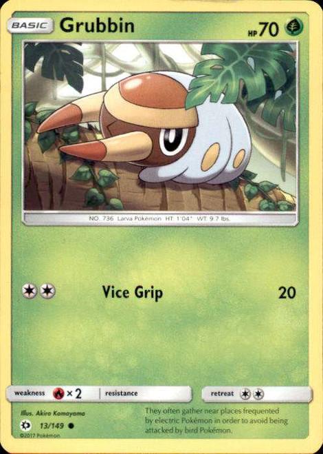 Pokemon Sun & Moon Base Set Common Grubbin #13