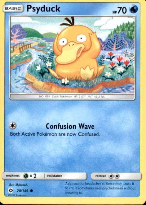 Pokemon Sun & Moon Base Set Common Psyduck #28