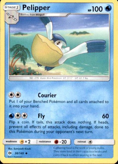 Pokemon Sun & Moon Base Set Uncommon Pelipper #38