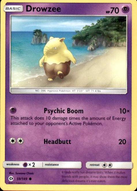 Pokemon Sun & Moon Base Set Common Drowzee #59