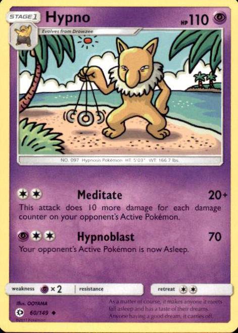 Pokemon Sun & Moon Base Set Uncommon Hypno #60