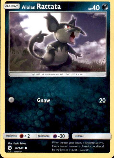 Pokemon Sun & Moon Base Set Common Alolan Rattata #76