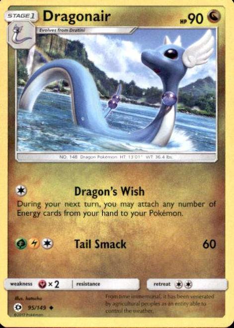 Pokemon Sun & Moon Base Set Uncommon Dragonair #95