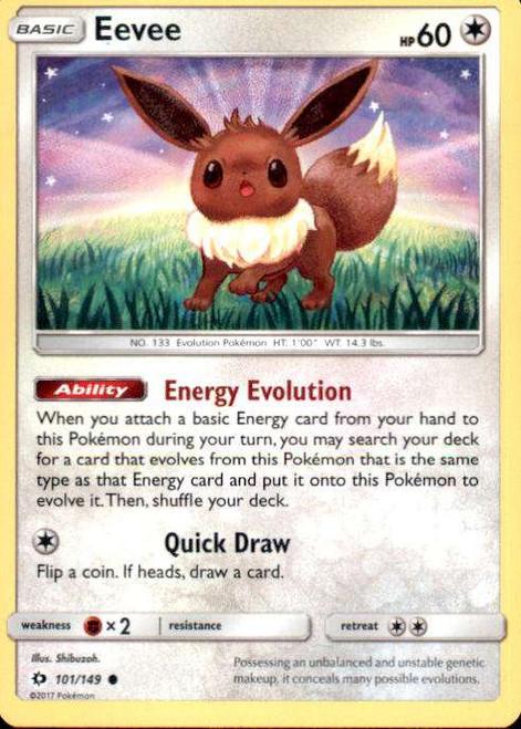 Pokemon Sun & Moon Base Set Common Eevee #101