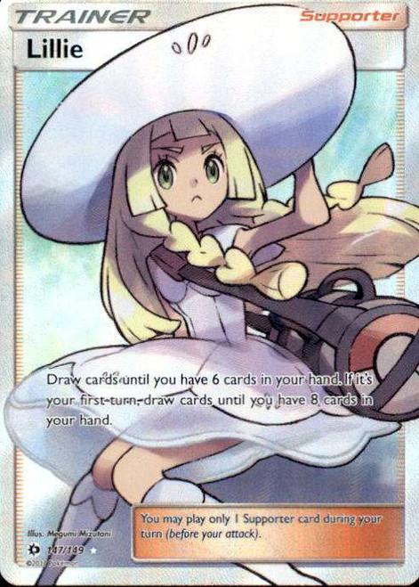 Pokemon Sun & Moon Base Set Ultra Rare Full Art Lillie #147