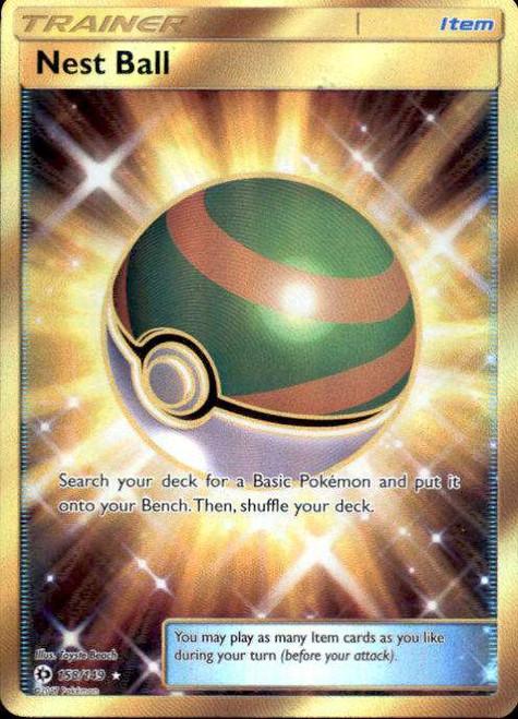 Pokemon Sun & Moon Base Set Secret Rare Nest Ball #158