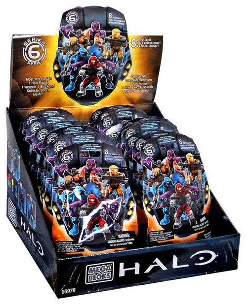 Mega Bloks Halo Series 6 Minifigure Mystery Box [24 Packs]