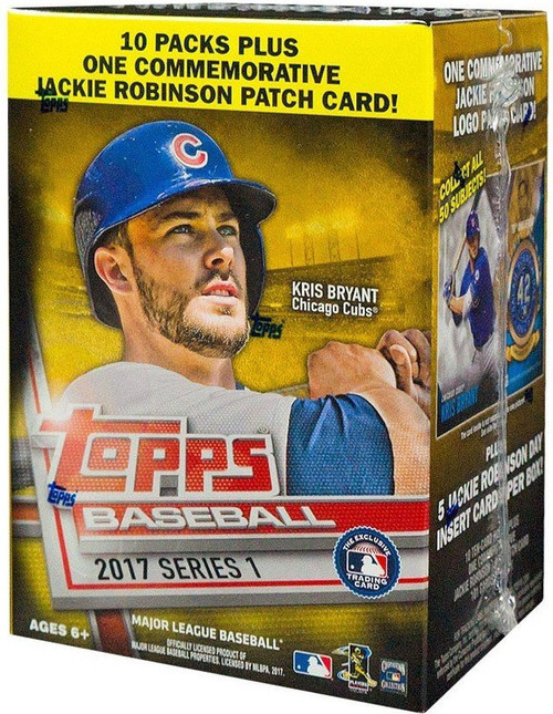 MLB Topps 2017 Series 1 Baseball Trading Card BLASTER Box [10 Packs + 1 Patch Card!]