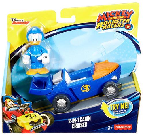 Fisher Price Disney Mickey & Roadster Racers 2-in-1 Cabin Cruiser Vehicle & Figure