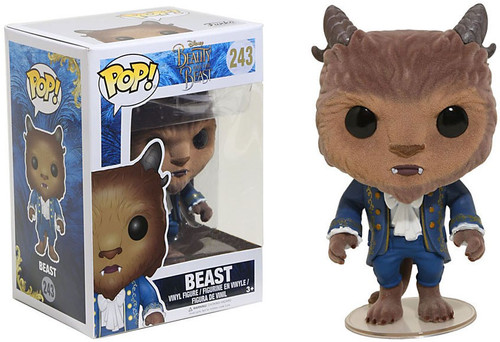 Funko Disney Beauty and the Beast Beast Exclusive Vinyl Figure #243 [Flocked]