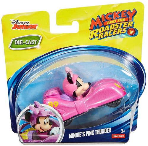 Fisher Price Disney Mickey & Roadster Racers Minnie's Pink Thunder Diecast Vehicle