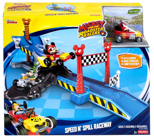 Fisher Price Disney Mickey & Roadster Racers Speed N' Spill Raceway Playset