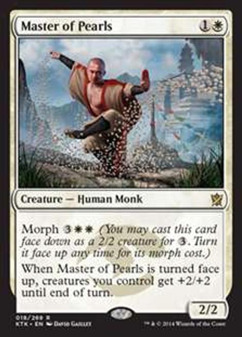 MtG Khans of Tarkir Rare Foil Master of Pearls #18