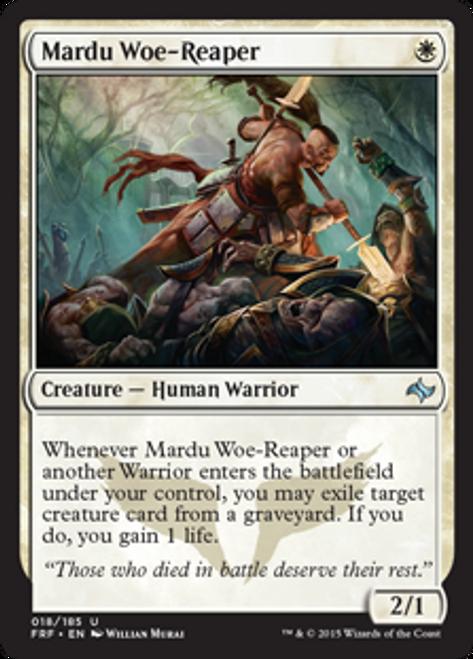 MtG Fate Reforged Uncommon Foil Mardu Woe-Reaper #18