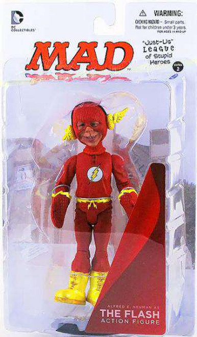 DC MAD Just Us League of Stupid Heroes Alfred E. Neuman as The Flash Action Figure [Loose]