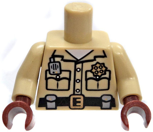 LEGO Tan Male Sheriff with Brown Gloves/Hands Loose Torso [Loose]