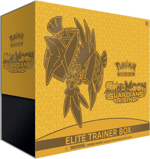 Pokemon Trading Card Game Sun & Moon Guardians Rising Tapu Koko Elite Trainer Box [8 Booster Packs, 65 Card Sleeves, 45 Energy Cards & More]