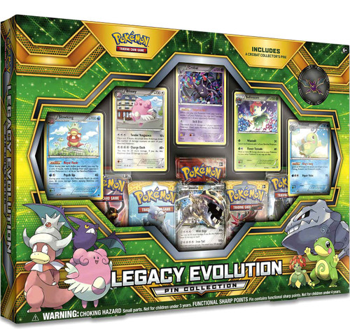 Pokemon Trading Card Game Legacy Evolution Pin Collection [5 Booster Packs, 6 Promo Cards & Pin]