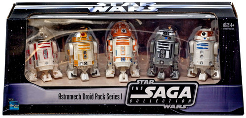 Star Wars 2006 Saga Collection Astromech Droid Pack Series I Exclusive Action Figure 5-Pack [R2-Q2, R4-A22, R3-T2, R2-C4 & R3-T6]