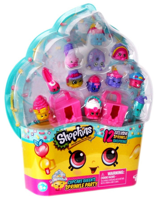 Shopkins Cupcake Queen's Sprinkle Party Exclusive Mini Figure 12-Pack