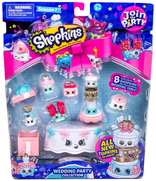 Shopkins Join the Party Season 7 Wedding Party Mini Figure 9-Pack