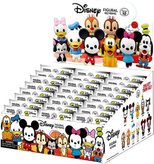3D Figural Keyring Disney Series 10 Mystery Box [24 Packs]