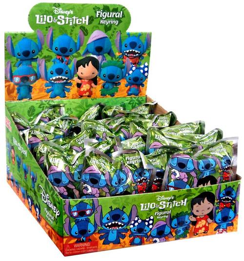 Disney 3D Figural Keyring Lilo & Stitch Series 1 Mystery Box [24 Packs]