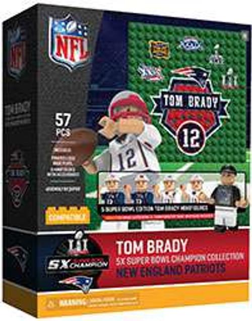 NFL New England Patriots 2017 Super Bowl Champions Tom Brady Minifigure 5-Pack