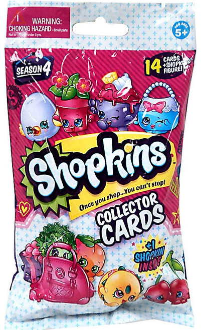 Shopkins Season 4 Collector Cards & Figure Mystery Pack [14 Cards Plus 1 RANDOM Figure]
