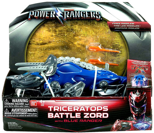 Power Rangers Movie Triceratops Battle Zord with Blue Ranger Action Figure