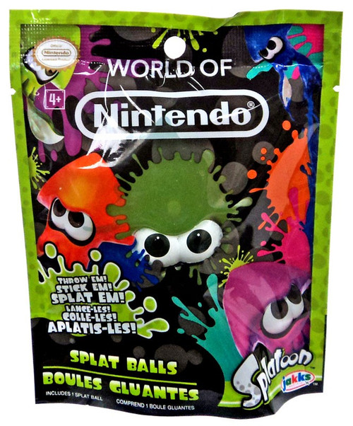 Splatoon World of Nintendo Green Squid Splat Ball