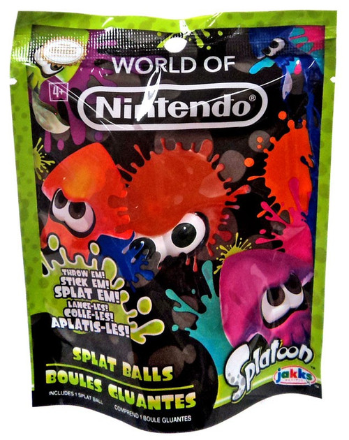 Splatoon World of Nintendo Orange Squid Splat Ball