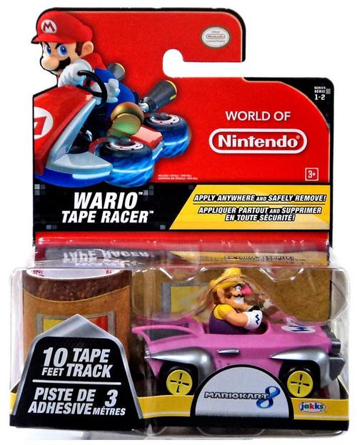 World of Nintendo Mario Kart 8 Tape Racer Wario Figure