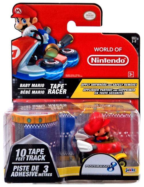 World of Nintendo Mario Kart 8 Tape Racer Baby Mario Figure