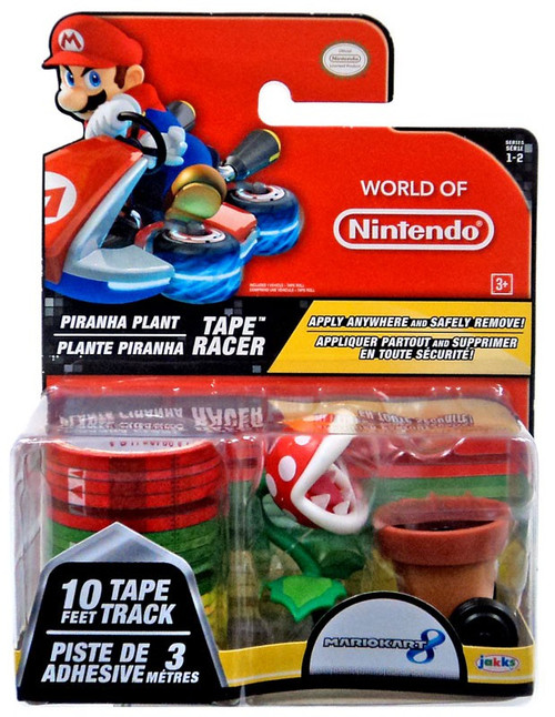 World of Nintendo Mario Kart 8 Tape Racer Piranha Plant Figure