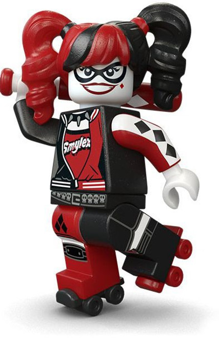 DC LEGO Batman Movie Harley Quinn with Roller Skates Minifigure [without Bat Loose]