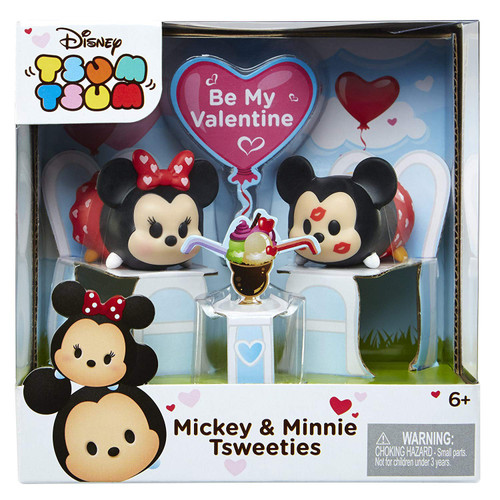 Disney Tsum Tsum Mickey & Minnie Tsweeties Minifigure Set [Be My Valentine]