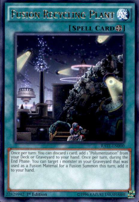 YuGiOh Raging Tempest Rare Fusion Recycling Plant RATE-EN000